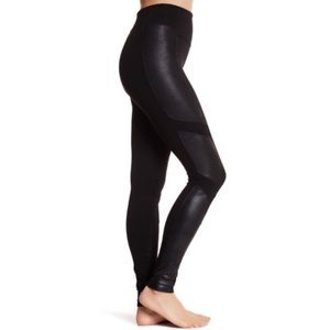 Spanx Moto Faux Leather Panel Leggings